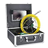FEXAIX 22mm Industrial Pipe Sewer Inspection Video HD 1080P Camera with DVR Video Recording/WiFi Wireless/Photo Editing/10 Inch Touch Screen/6 LED Lights (Size : F9400WF-50M)