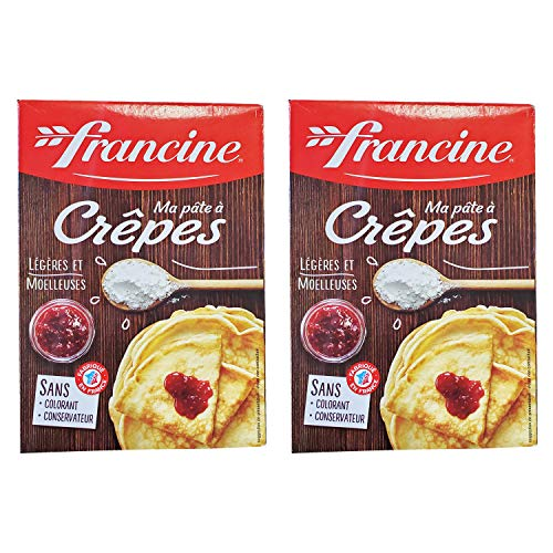 Francine Ma Pate a Crepes - French Imported Crepe Dough Mix (2 Pack, Total of 760g)