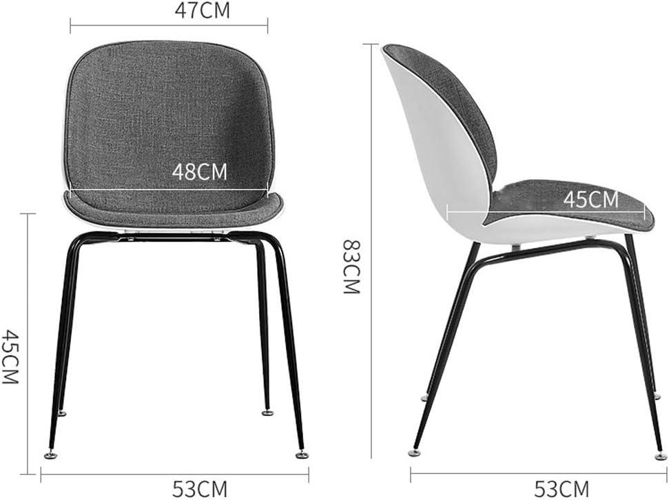 XXT-Chaise de Salle, Chaise de Bureau Simple, créative Dossier, Chaise Loisirs, Maison Adulte Chaise de Salle Durable (Color : Purple) Purple