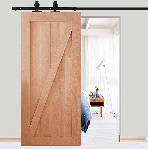 per porte da interni modello a fiore 200 cm per armadi a muro Set completo con puleggia per porte scorrevoli in acciaio inox bandella per porta scorrevole
