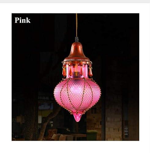 Lampe Suspensions Plafonnier Lustres Lustre Bohémien Méditerranéen Couleuré Verre Plafond Goutte Suspension Lampe Luminaire Pour Café
