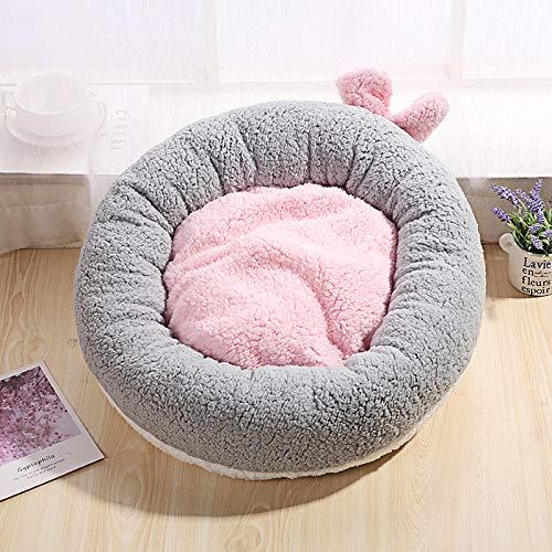 Hundebett Tierbett Katzenbett Hundesofa Katzensofa Kissen Flauschig, Weich u. Waschbar für Katzen Hunde -grau_S.
