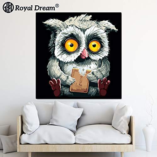 jzxjzx Frameloze dierlijke olieverfschilderij woonkamer sofa wandschilderij hangend schilderij veranda decoratief olieverfschilderij