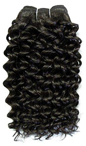 chear Disco Jerry trame Extension de cheveux humains avec de mélange tissage, numéro 2, marron foncé, 35 cm