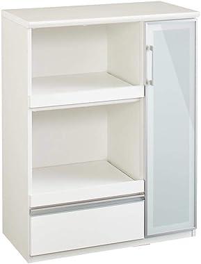 家具 収納 キッチン収納 食器棚 レンジ台 レンジラック キッチンラック Torerant/トレラント コンパクトレンジカウンター 幅89.5cm・家電収納2段(高さ115cm) H87103(サイズはありません ア:ダークブラウン)