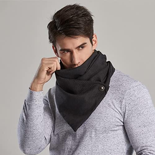 ShSnnwrl Wrap for Women Neatly Stitched Winter Ring Scarf Men Magic Scarves Male Bandana Face Mask Loop Button Neutral Novedad Moda Chal Hijab b