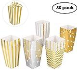 MVPOWER 50 Stück Popcorn Tüten Popcorn Box Karton, Pappe Candy Container Partytüten Behälter...