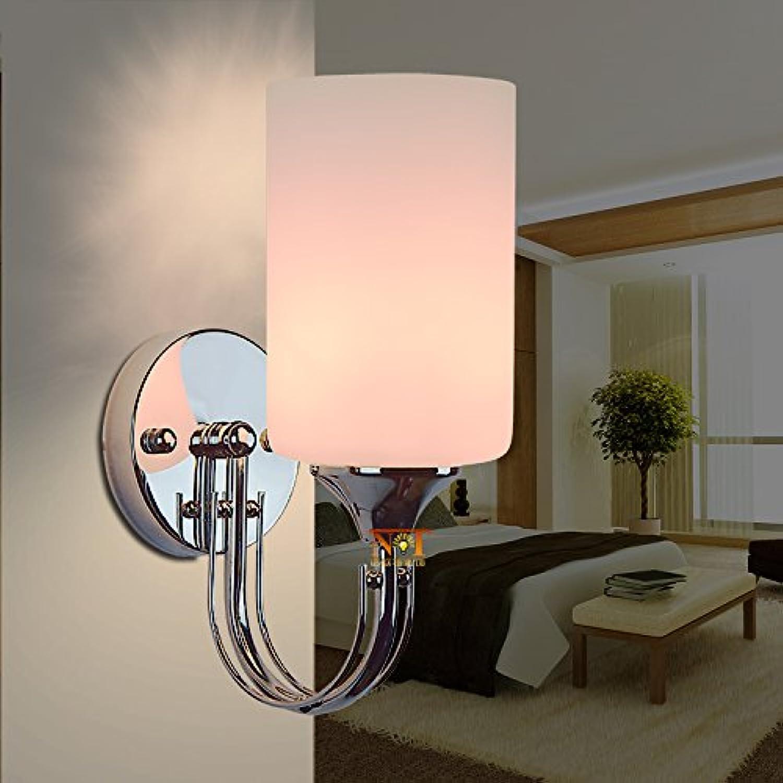 BESPD Minimalistischen modernen Edelstahl Kinder Zimmer zylindrische Wandleuchte für Wohnzimmer Restaurant Flur Treppe Schlafzimmer Bett Lampen T 3006 7 Wled Single Head Led