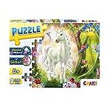 CRAZE Magic Forest 30257 - Puzzle de Unicornio para niños a Partir de 8 años, 200 Piezas con Purpurina y Diamantes