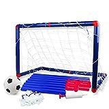 Yhjkvl Porterías de Fútbol Portátiles Red de fútbol de fútbol for niños Goal Nets Cubierta al Aire Libre práctica del Entrenamiento 60 X 32 X 47 cm Jardín Portería de Fútbol