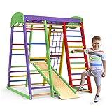 Indoor Playground Toddler Climber Slide – Kids Jungle Gym Playset – Activity Toddler Climber Structure – Play Gym Swedish Ladder - Climbing Play Structure Set – Adventure Dome Slide set – Akvarelka