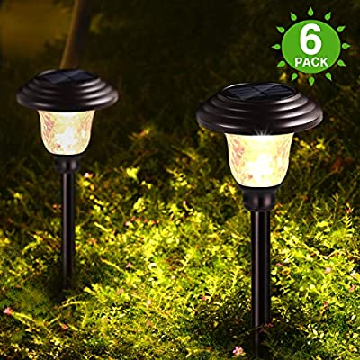 Bronze Metal Waterproof Solar Landscape Pathway Lights Outdoor Charged by Solar Power Lights Outdoor Apply to Path Light, Walkway Light or Driveway Light Around The House or Yard (6)