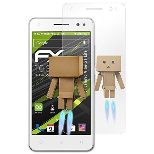 atFolix Bildschirmfolie kompatibel mit Lenovo Vibe S1 Lite Spiegelfolie, Spiegeleffekt FX Schutzfolie