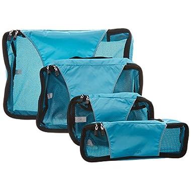 eBags Packing Cubes - 4pc Classic Plus Set (Aquamarine)