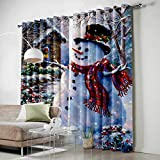 Scrummy Darkening Curtains for Bedroom Blackout Window Treatment Curtains Thermal Insulating Curtains Panel, Grommet Top- Merry Christmas Dreamlike Snowflakes Xmas Theme, Poliéster y mezcla de poliéster, Christmas3suy9307, 40' by 63'