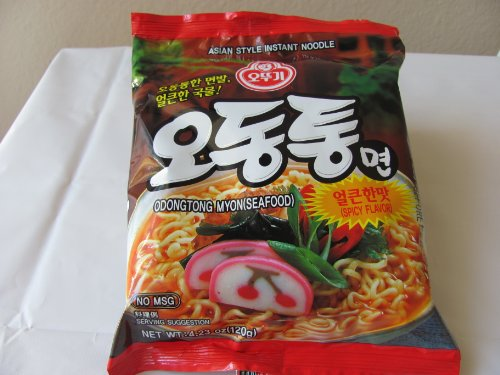 Ottogi Odongtong Seafood Flavor Noodle Ramen, 4.23-ounce Packages (Pack of 20)