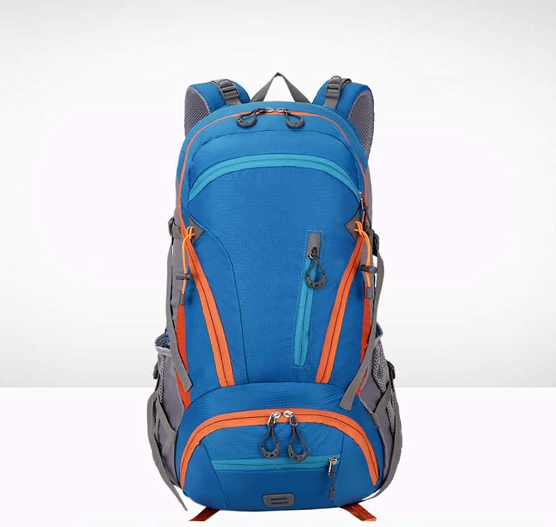 QQX 45L Outdoor Sports Rucksack Camping Wandern wasserdichte Rucksack Bergsteigen Tasche Mit Regenschutz Für Reisen Trekking