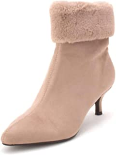 20c7b954d9cb Impo Womens Esra Faux Fur Pointed Toe Ankle Fashion Boots