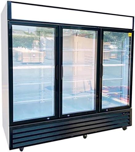 Commercial Refrigerator Glass 3 door NSF Merchandiser Beverage Display Cooler Reach In Fridge product image