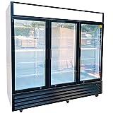 Commercial Refrigerator Glass 3-door NSF Merchandiser Beverage Display Cooler Reach In Fridge Upright, 1840-Can Capacity 56 cuft, 72'-GDM-69B dup-1