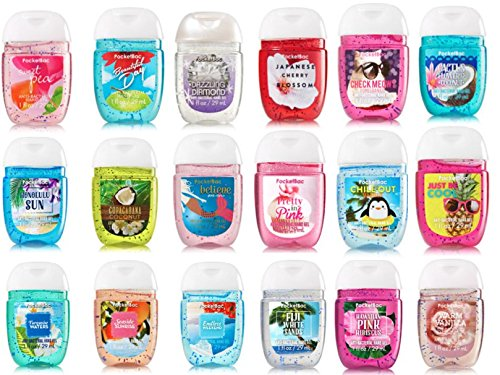Bath and Body Works Anti-Bacterial Hand Gel 5-Pack PocketBac Sanitizers, Assorted Scents, 1 fl oz each