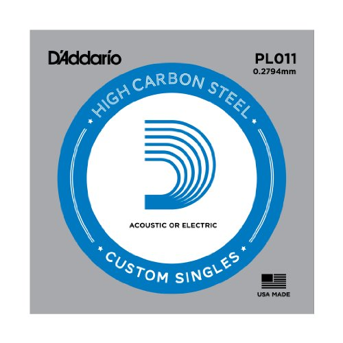 D Addario PL011 - Cuerda para guitarra eléctrica de acero, talla 11, 1 x Cuerda suelta