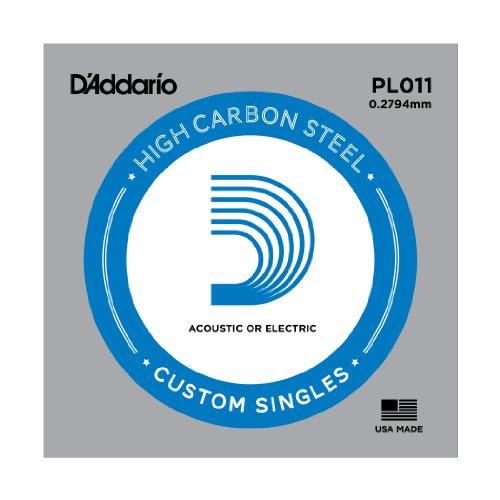 D'Addario PL011 Gitarren-Einzelsaite (für Akustik oder E-Gitarre) 0,028 cm (0,011 Zoll)