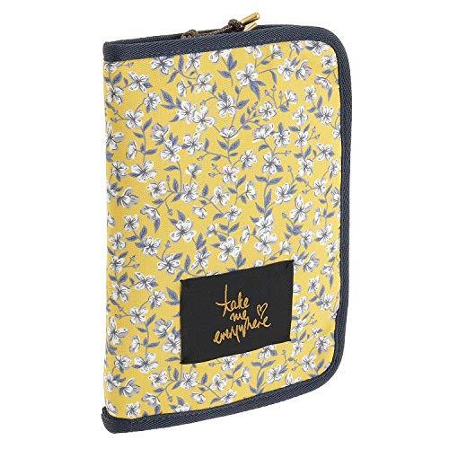 パスポートケース かわいい リバティ 母子手帳ケース オーガナイザー | ジュエルナローズ ペイトン 64031 (イエロー(ピーチブロッサム))