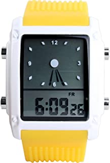 Men Women LED Light Digital Analog Alarm Silicon Multifunction Waterproof Quartz Watches
