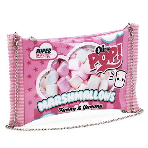 Oh My Pop! Pop! Marshmallow-Chain Shoulder Bag Umhängetasche, 34 cm, Pink