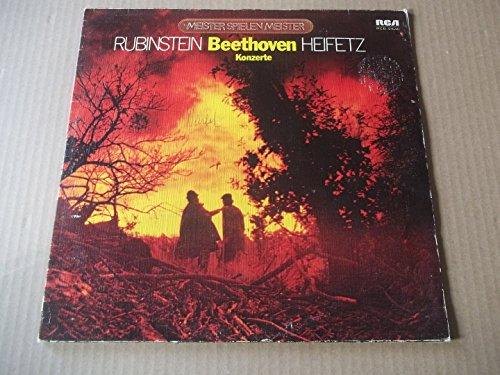 Meister spielen Meister: Beethoven - Konzert für Violine D-dur, op. 61 / Konzert für Klavier und Orchester Nr. 5 Es-dur, op 73 [Vinyl LP][Doppel-LP]