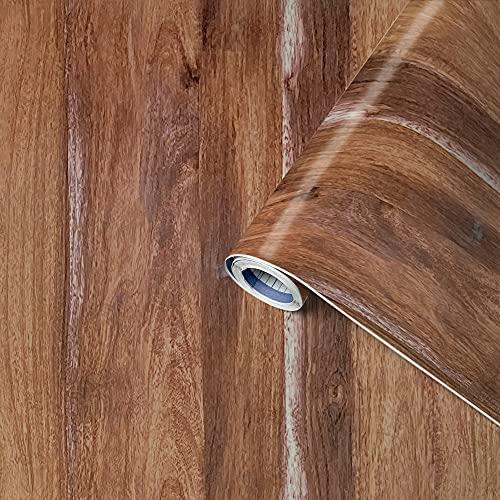 Venilia Klebefolie Perfect Fix Eiche Rustikal, Holzfolie, Dekofolie, Möbelfolie, Tapeten, selbstklebende Folie, keine Luftblasen, Natur-Holzoptik, 67,5cm x 2m, Stärke: 0,15 mm, 53350