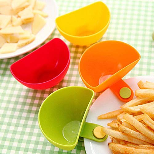 Gouen Salade Schotel Ketchup Jam Dip Clip Cup Kom Schotel Cup Servies Home Keuken Accessoires Fruit Groente Tool, groen