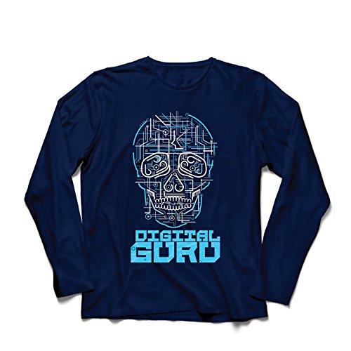 lepni.me Camiseta de Manga Larga para Hombre El gurú Digital - Ideas de Regalos de tecnología, computadora, Programador o Jugador