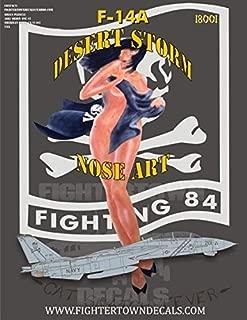FTD18001 1:18 Fightertown Decals F-14A Tomcat VF-84 Jolly Rogers Desert Storm Nose Art [WATERSLIDE DECAL SHEET]