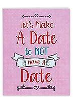 NobleWorks No Date - Galentine's Dayカード 封筒付き (レターヘッド8.5 x 11インチ) - J3140GAG