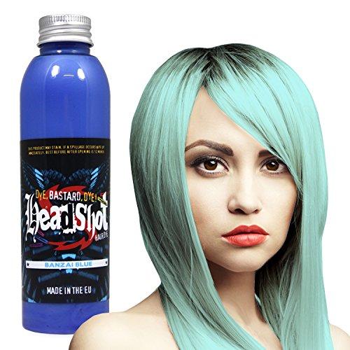 Pastellblaue Haarfarbe Headshot Banzai Blue, Semi-permanente Haartönung 150 ml