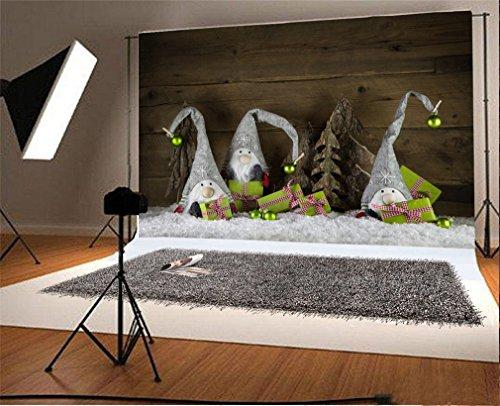 YongFoto 3x2m foto achtergrond Kerstmis speelgoed stof poppen cadeau sneeuw wijnoogst houten muur fotografie achtergrond fotoshooting portretfoto's party kinderen bruiloft fotostudio rekwisieten