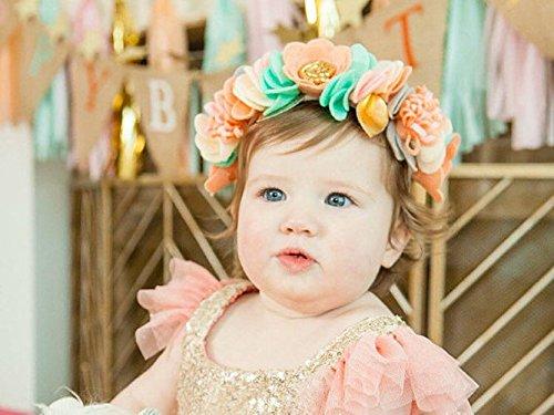 Baby Toddler Headband Felt Flower