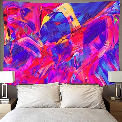 Misterioso colorido paño de pared pintado gran arte tapiz psicodélico colgante de pared toalla de playa manta tela de fondo A3 150x200cm