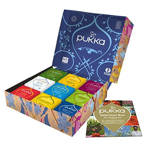 Pukka Selection Geschenk Box, Kollektion ausgewählter Bio-Kräutertees (1 Box, 45 Bio-Teebeutel), 75 g