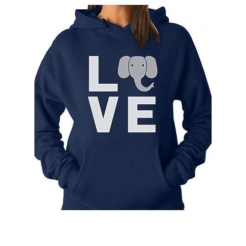 dcdbc2f70fabba TeeStars - Love Elephants Be Kind to Elephants Animal Lover Women Hoodie