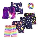 KeeFsion 6 Packs Girls Shorts Color Dance Shorts Girls Safety Short Atmungsaktive Bike Short für Mädchen Bedruckte Dance Shorts Colourful Yoga Short Pant -A-120