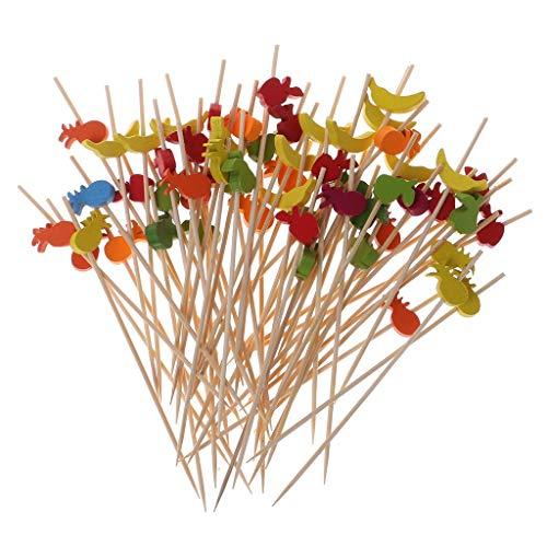 Palillos de frutas de Kofun, 100 piezas de picos de comida, postre, frutas, ensalada, tenedor para pasteles, magdalenas, fiestas, cócteles, palillos de dientes