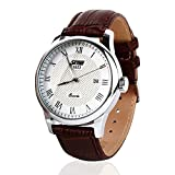 Business Casual Quartz Wrist Watch with Stainless Steel Housing, 98ft 30M Water Resistant