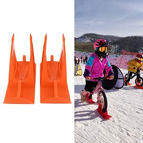 Patinaje plástico de la Bicicleta de la Snowboard del Coche del Tablero del Trineo de la Nieve para el esquí de la Bicicleta de los niños(Orange)