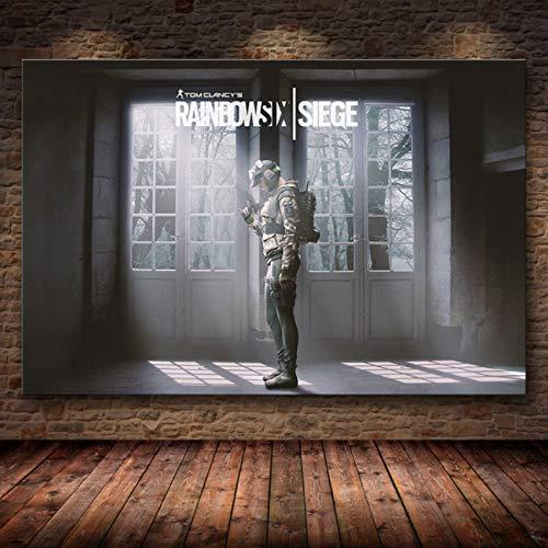 xmydeshoop Ungerahmt Die Plakatdekoration Gemälde Tom Clancy Rainbow Six Siege Auf Hd Leinwand Ölgemälde Kunstgemälde 50X70Cm (Xz-3870)