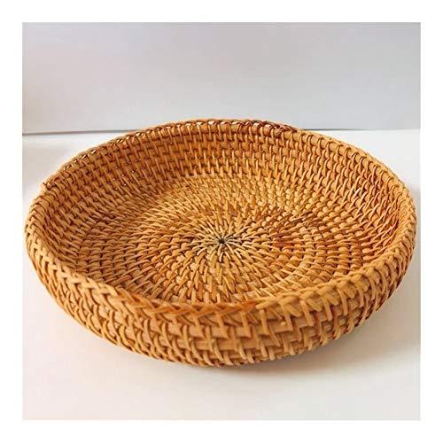 KEHUITONG ZSRXL Woven Storage Basket Rattan Basket Desktop Storage Woven Basket Wicker Basket Wooden Basket Woven Basket Nut Basket Dried Fruit (Color : Photo color)