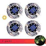 Towyoy Moderne Nordic Solar Light LED Erde im Freien drahtlose Nicht perforiert wasserdichte Landschaft Dekoration Super Bright Hof Garten Imitation Stein Buried-Rasen-Licht (Größe : 4 packs)