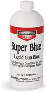 BIRCHWOOD CASEY Super Blue Liquid Gun Blue 32 Ounce